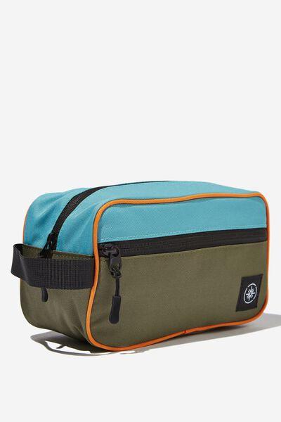 Transit Wash Bag, ORANGE BLOCK