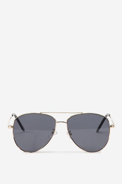 Simpson Sunnies, GOLD/BLACK FLAT