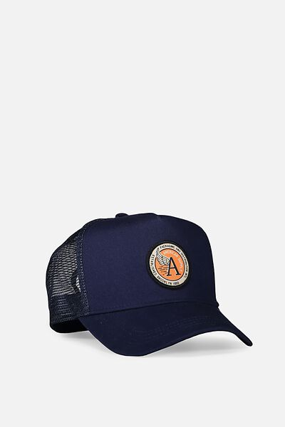Wicked Print Trucker, NAVY/AMERICAN SUPPLY