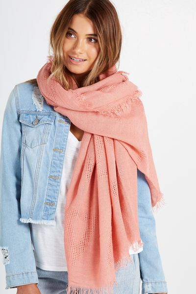 Tri Mid Weight Scarf, ANTIQUE MAUVE