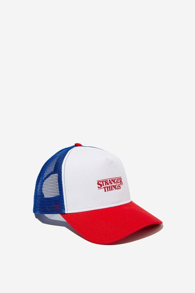 Wicked Print Trucker, LC BLUE/RED/WHITE/STRANGER THINGS
