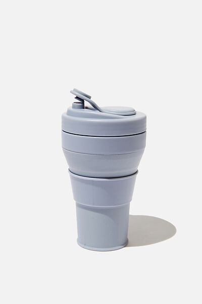 Collapsible Coffee Cup, GREY