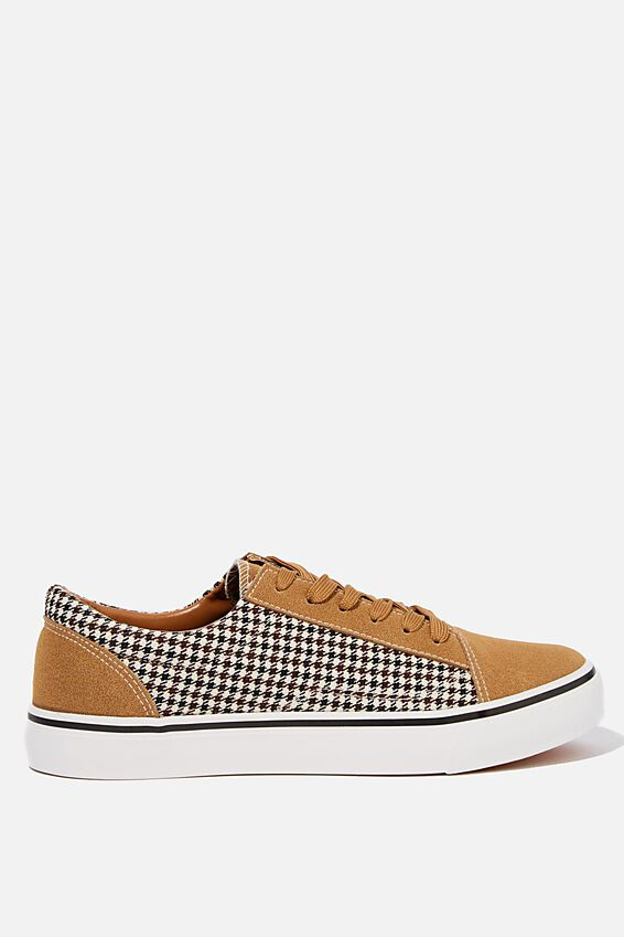 Axell Skate Shoe, TAN/HOUNDSTOOTH
