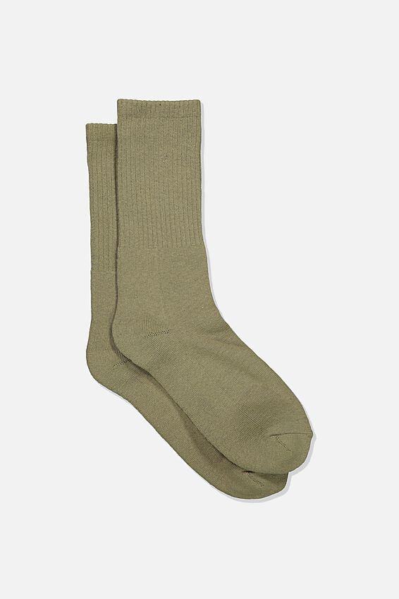 Single Pack Active Socks, TAUPE