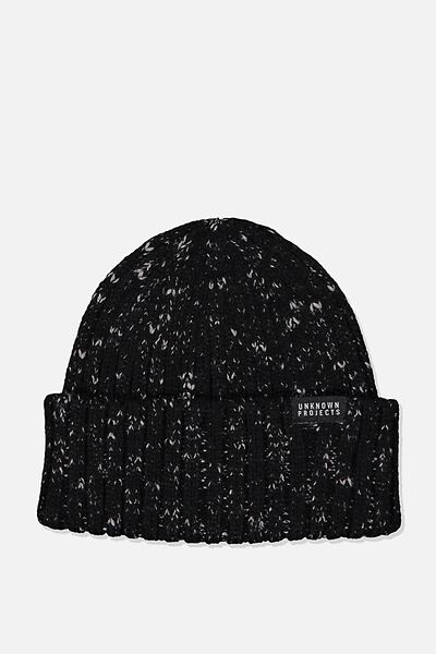 Nordic Beanie, BLACK/GREY FLECK/UNKNOWN PROJECTS