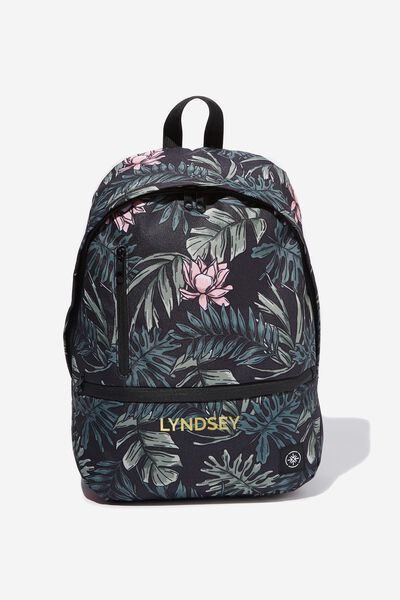 Personalised Transit Backpack, LOTUS LEAVES