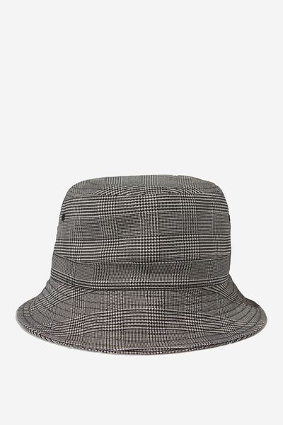 Bucket Hat, GREY CHECK