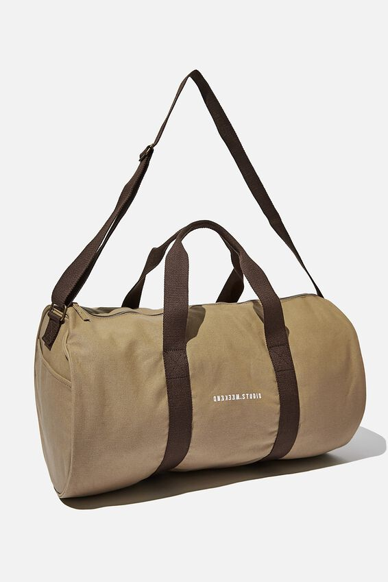 Brunswick Barrel Duffle, TAN CANVAS