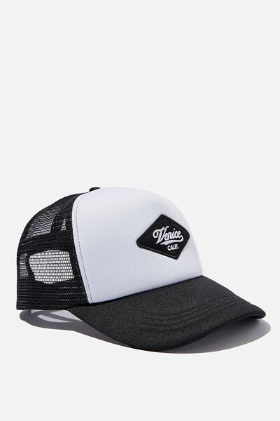 Wicked Print Trucker, BLACK/WHITE/VENICE