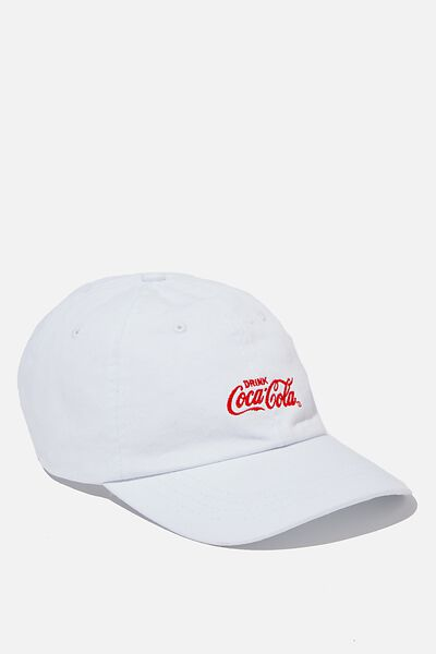 Special Edition Dad Hat, LCN COK WHITE/RED/COCA COLA