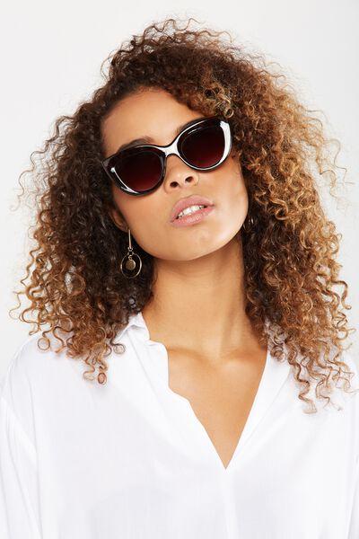 Carrie Cat Eye Sunglasses, MILKY TORT