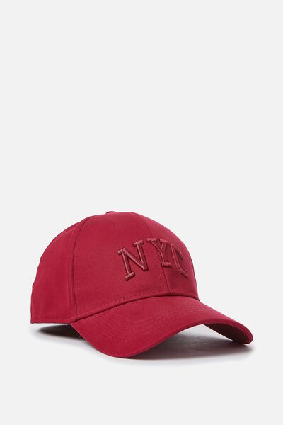 Outfield Fitted Cap, RED/NYC