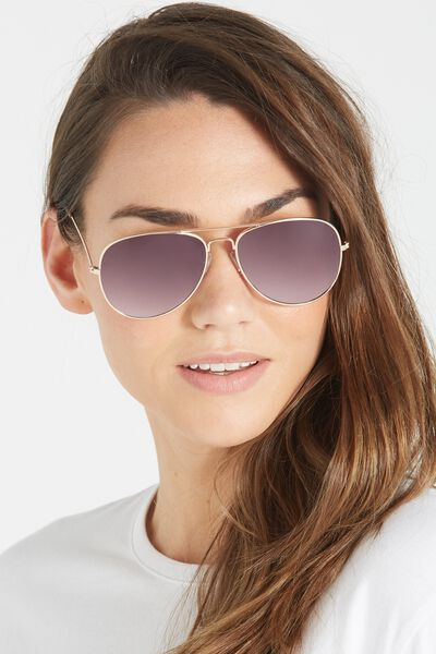 Belle Sunglasses, GOLD/GREY