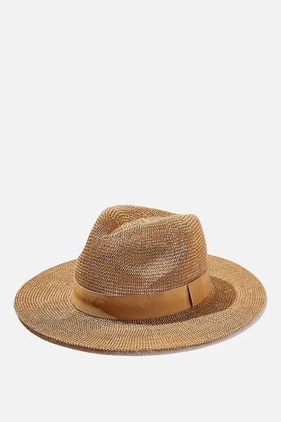 Wide Brim Summer Hat, TAN