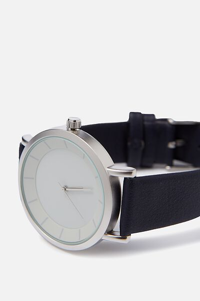 Cambridge Watch, SILVER/NAVY