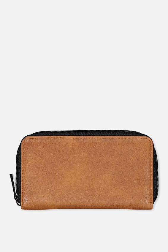 Large Zip Wallet, TAN