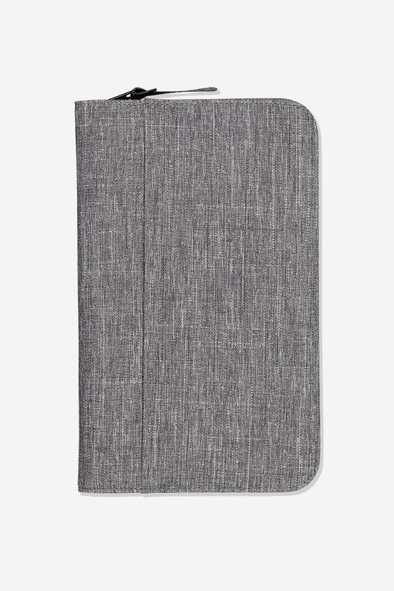 Travel Wallet, GREY CROSSHATCH