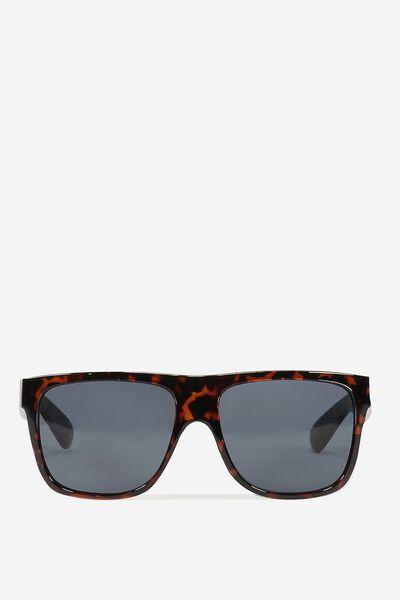 Tommy Flat Top Sunglasses, DARK/TORT