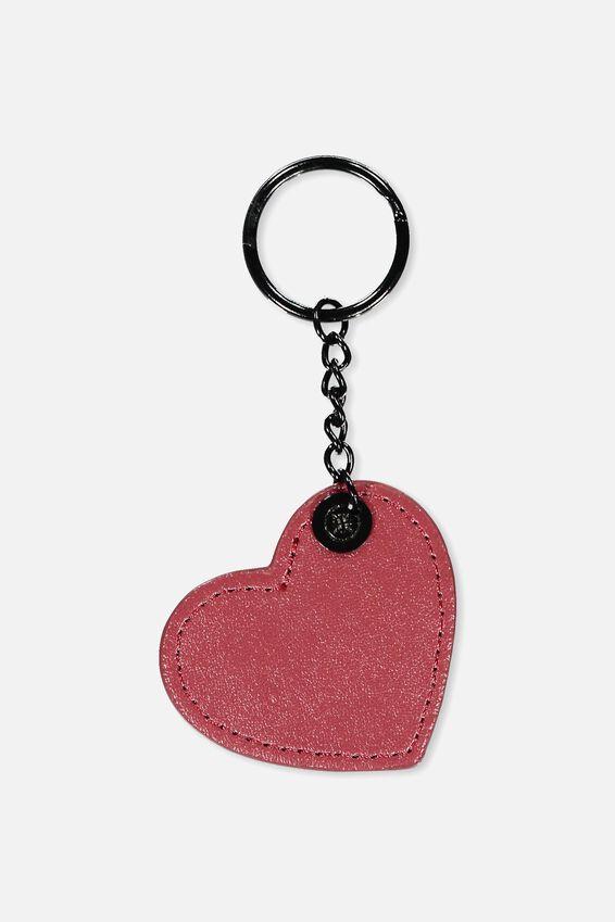Bag Charm, TRACK RED PU HEART
