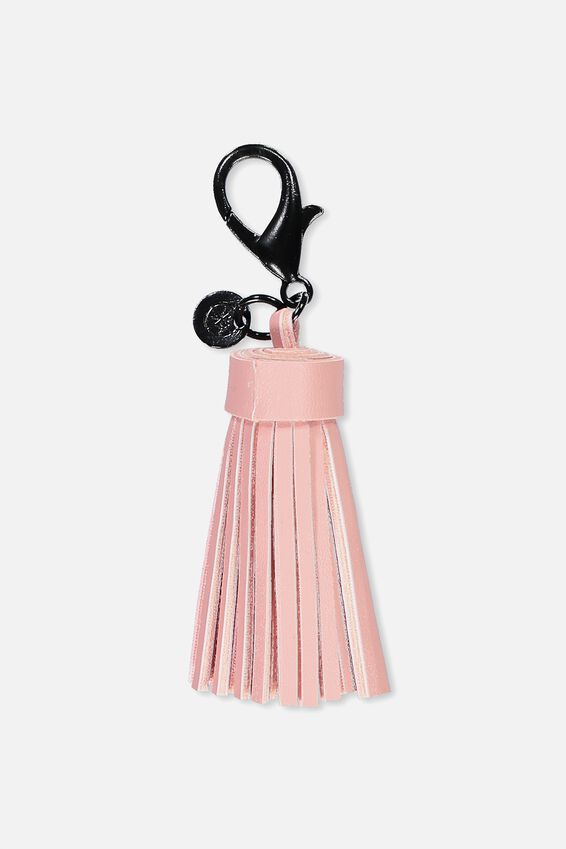 Bag Charm, DUSTY BLUSH TASSEL