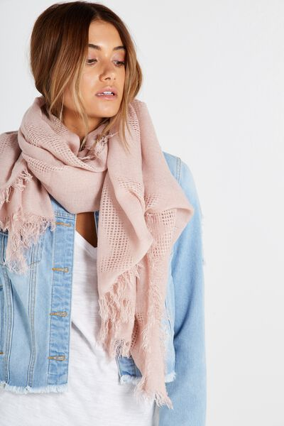 Tri Mid Weight Scarf, SOFT PINK