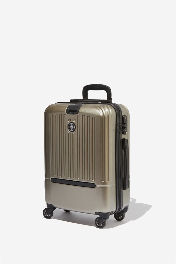 Sml 19Inch Hard Suitcase, GREY METALLIC