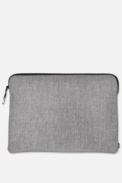 15 Inch Laptop Sleeve, GREY CROSSHATCH