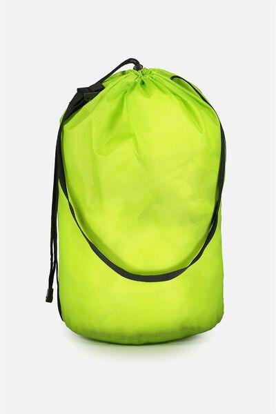 Nylon Satchel Bag, FLURO GREEN