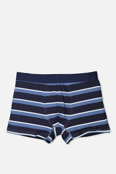 Single Hanging Trunks, NAVY/BLUE STRIPE