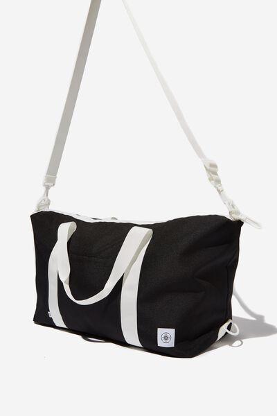 Transit Duffle Bag, BLACK WITH WHITE