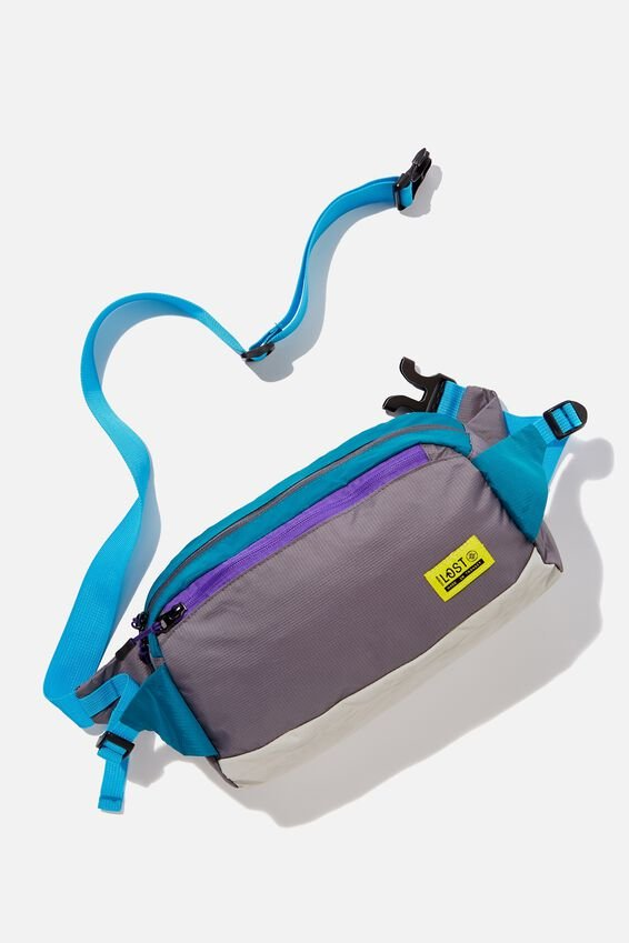 Explore Oversized Bumbag, GREY GREEN YELLOW