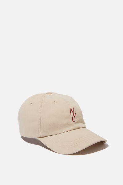 Strap Back Dad Hat, SAND/NYC LINK