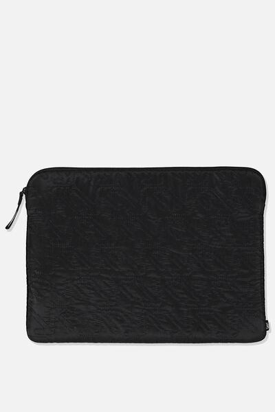 15 Inch Laptop Sleeve, BLACK/QUILTING