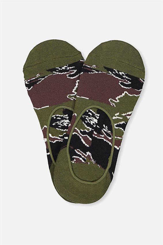 Invisible Socks 2 Pack, TIGER CAMO