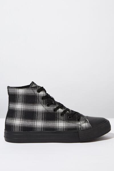 Tyler Hi-Top, BLACK/GREY PLAID
