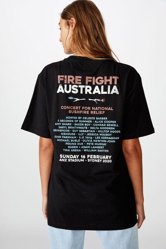 Fire Fight Festival Tee, BLACK