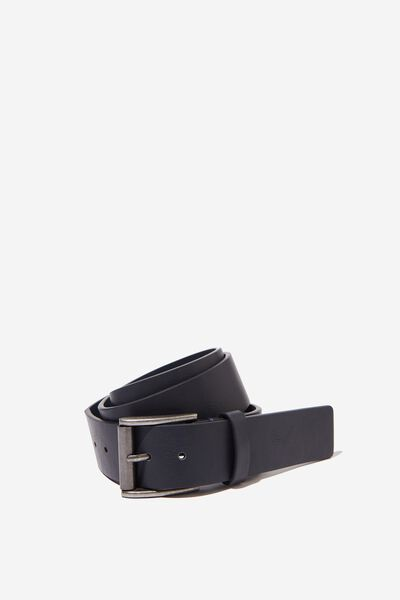 Square Buckle Pu Belt, NAVY