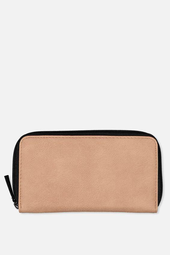 Large Zip Wallet, DUSTY BLUSH
