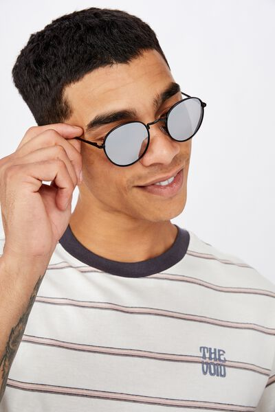 Bellbrae Sunglasses, BLACK/BLACK/SILVER FLASH