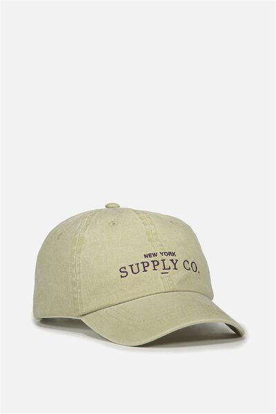 Strap Back Dad Hat, TAUPE/ SUPPLY CO