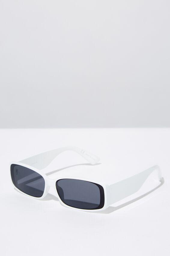 Alexander Sunglasses, WHITE/SMOKE