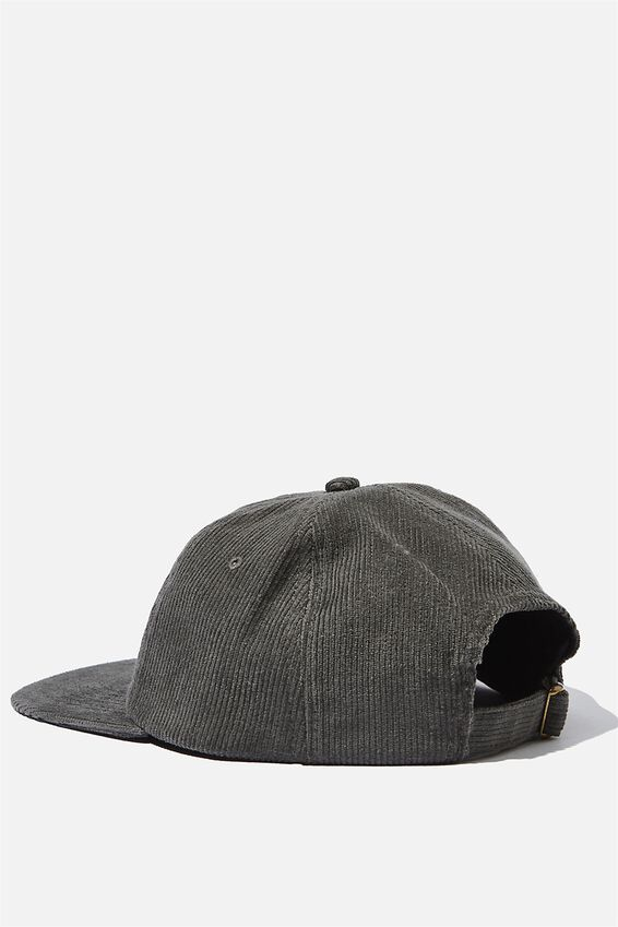 6 Panel Hat, STONE GREY CORDUROY/UNION LABEL