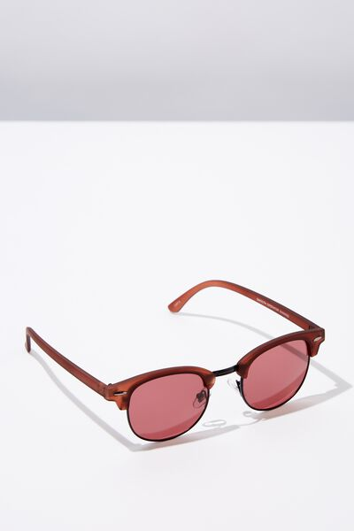Smooth Operator Sunglasses, BURGUNDY