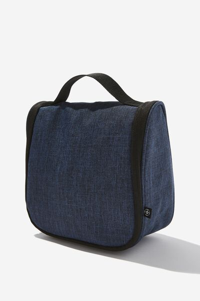 Hanging Travel Toiletry Bag, NAVY CROSSHATCH