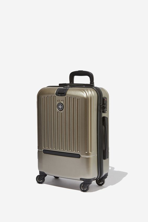 Sml 19Inch Hard Suitcase, GREY METALLIC