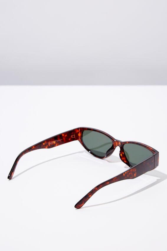 Charlotte Sunglasses, TORT/SMK GREEN