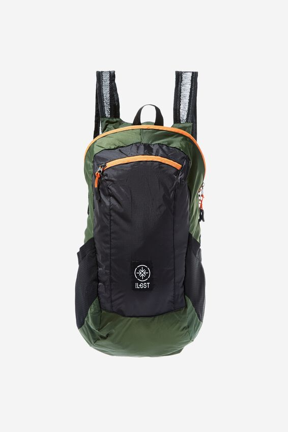 Packable Daypack, HIKING GREEN/BLACK