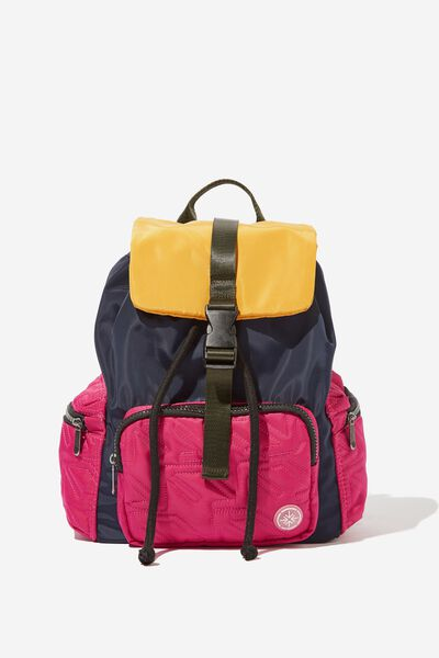 Pedestrian Drawstring Backpack, NAVY