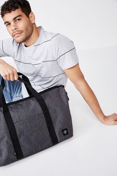 Transit Duffle Bag, CHARCOAL CROSSHATCH