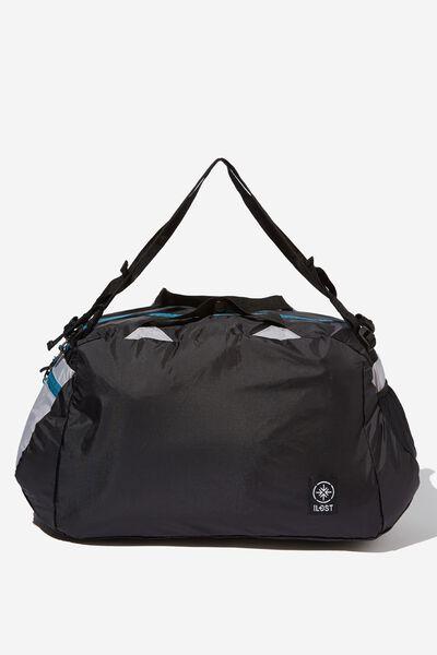 Packable Duffle, BLACK GREY
